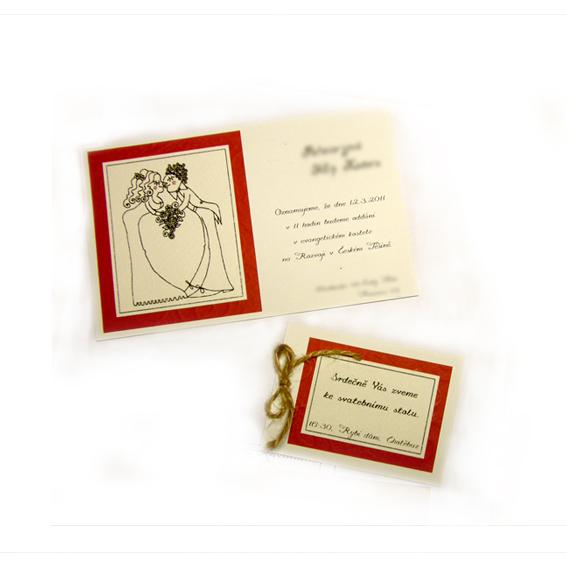 Svatební oznámení a pozvánka